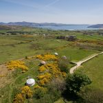 An Aerial shot – spot Crocullia yurt at the top