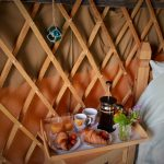 breakfast in Dunree yurt