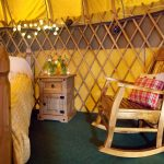 Rocking chair in Mulroy yurt