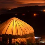 Mulroy yurt at night time