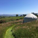 Mowed paths around Ballymastocker yurt