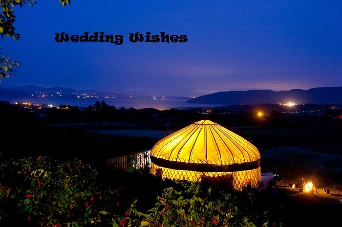 night yurt image wedding wishes caption