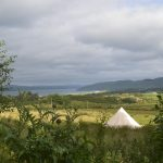 Cashel Bell tent with a view