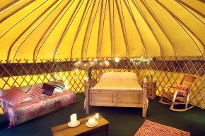 Inside 'Mulroy' yurt